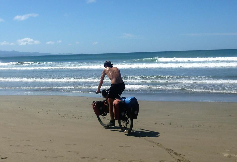 Nick riding the beach